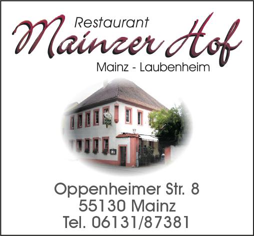 """Gaststätte """"Mainzer Hof"""""""