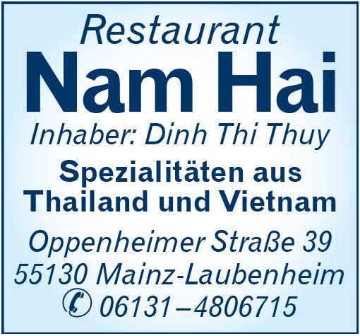 """Gaststätte """"Nam Hai"""""""